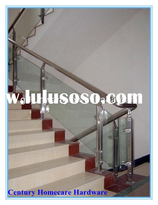Stainless steel handrailing/moderm balustrade for stairs/glass railing with glass clamp JW-M024 .2