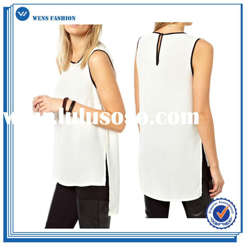 Top Quality Customizable Casual Ladies Tops And Blouses 2015