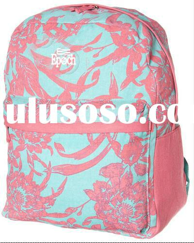 design new canvas book bag for school girl