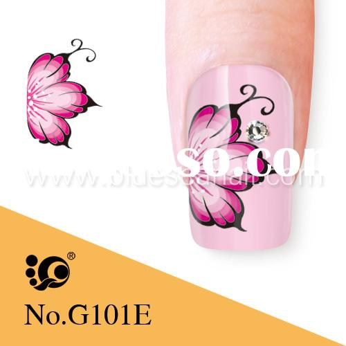 hot sale water flowers sticker for nail art popular in European