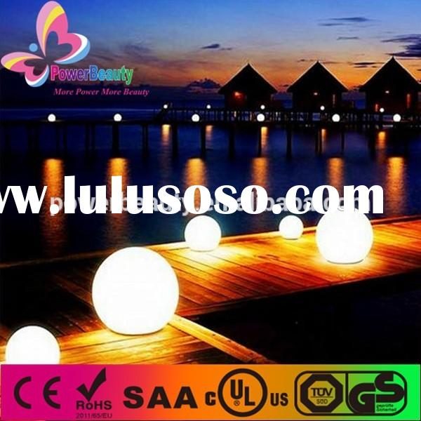 solar float led ball light for pool party garden/ rechargeable led sphere lamp with 16 color light