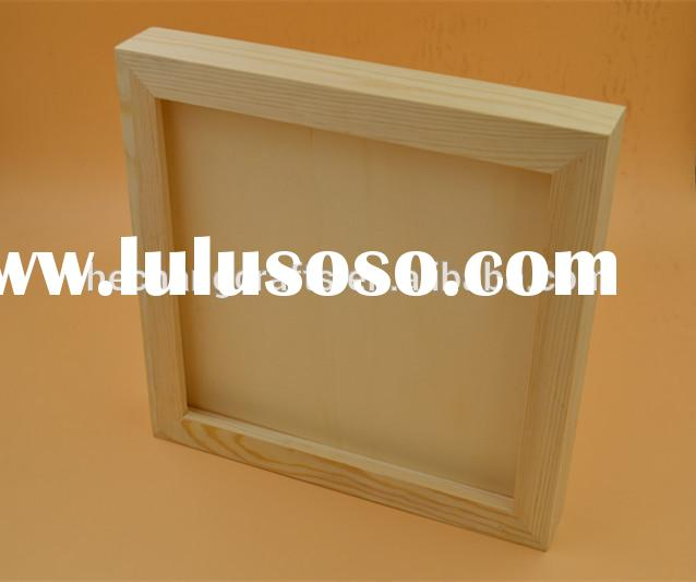 2015 customized natural pine wood light shadow boxes for sale