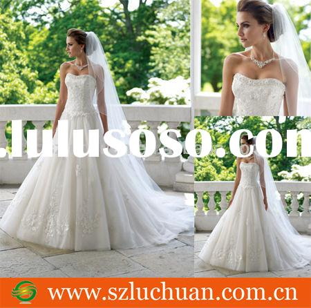 Beautiful Off Shoulder Beaded Appliqued White A-line Princess Wedding Gown
