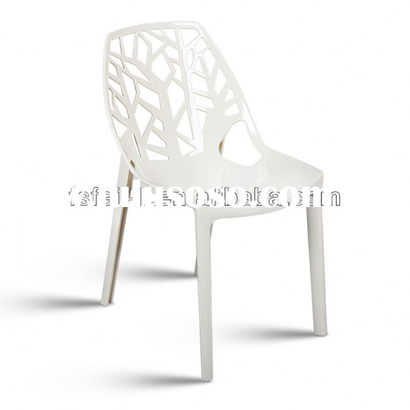 Cheap plastic chair pvc covered dining chair for dining room