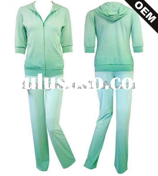 Cotton/spandex custom training suit for women