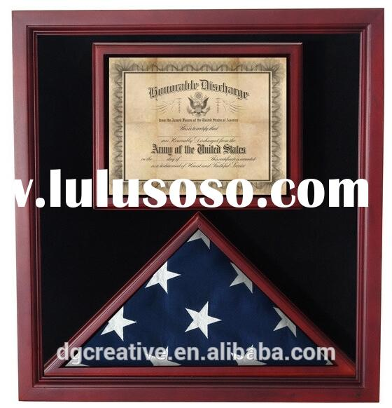 Flag / Medal Display Case - wood Shadow Box