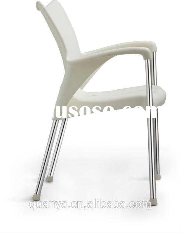 Metal frame plastic fashional dining chair with PP cover for dining room