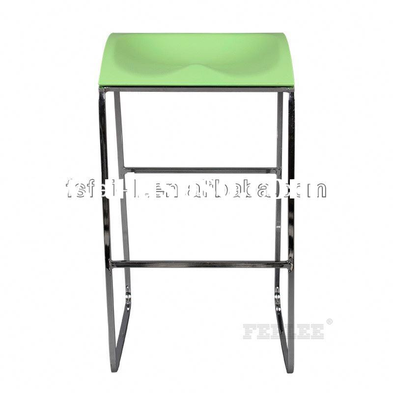 Modern bar stool plastic outdoor folding step stool for dining
