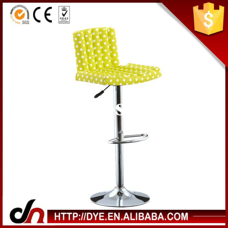 Multi-color PP pub stool chair,adjustable round bar chair,plastic led outdoor bar stools