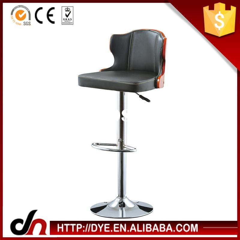 PU plywood frame gas lift leisure living bar stool,aluminum bar chair,cheap used bar stools