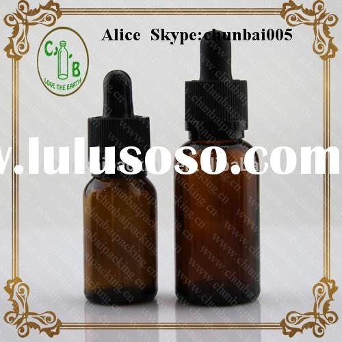 amber glass bottle dropper assembly with childproof &tamper evident dropper cap
