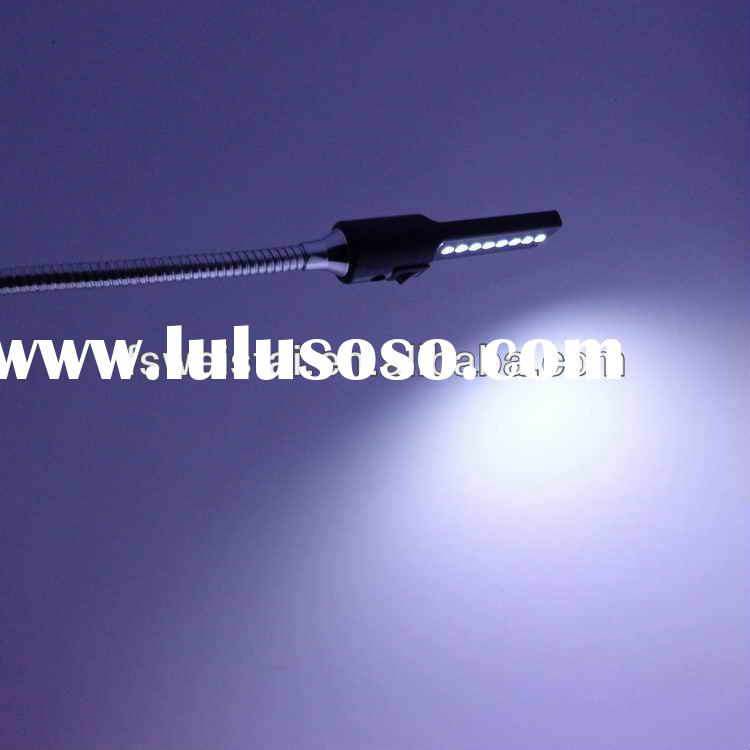 usb led gooseneck clamp light 0.5W/1.2W with sensor and on and off button gooseneck led reading ligh