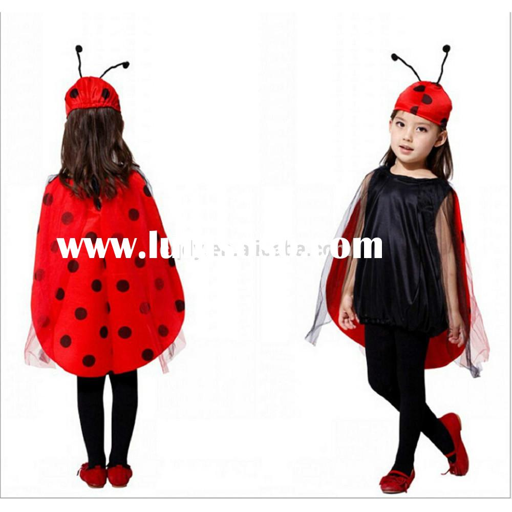 2015 girls Halloween ladybird costume, baby's ladybug fancy dress for party