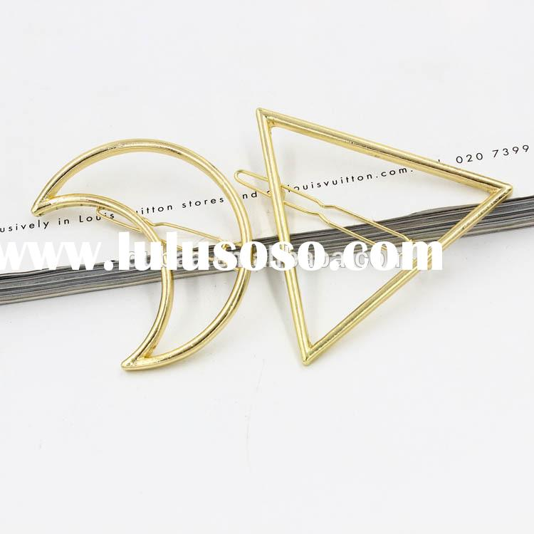 2015 Fashion Hair Pins for Bride Decoration Accessories Wedding Headpieces,Moon and Triangle Hair Sl
