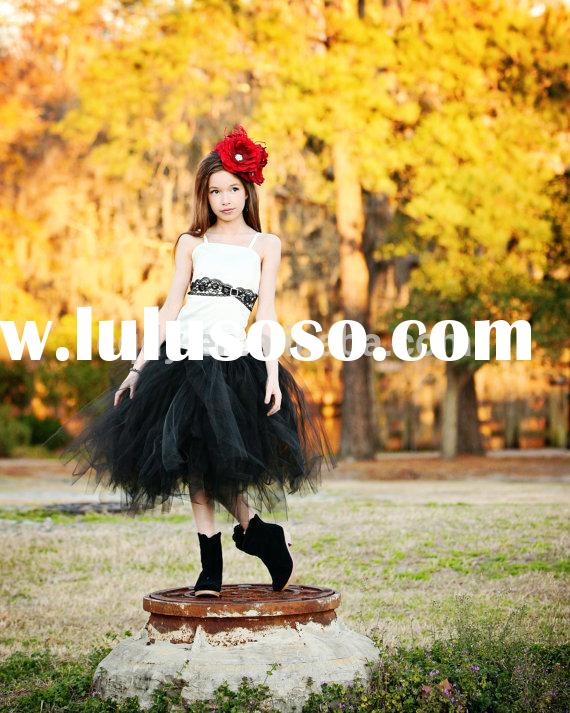 2015 New Flower Girl Dress/halloween costume /birthday tutu dress for kids/girl party wear western d
