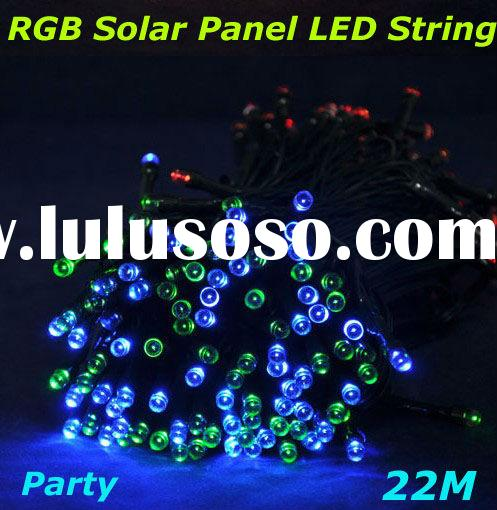 22M/pc RGB Wedding/Party/Garden/Holiday Decorative Led Solar String Light