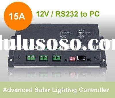 24v 15A software load control solar controller PWM Solar lighting controller