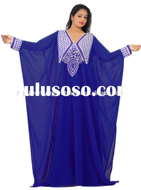 Aisa's top selling lovely Islamic Muslim Party muslim women clothing Kaftan, Abaya, Jalabiya