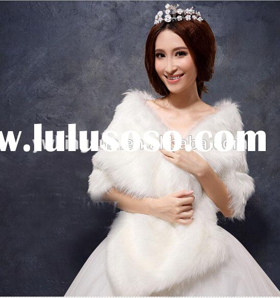 Bridal accessory faux fur wedding wrap bridal shawls for winter wedding dress party dresss