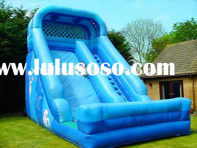 Inflatable jumping slide/bounce round water slide inflatable slide water beach