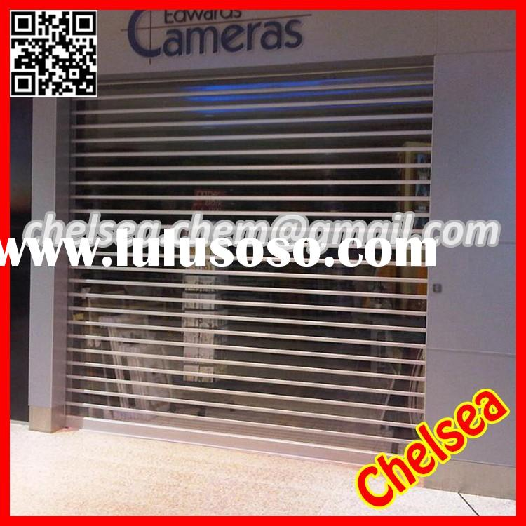 Interior/Exterior electric remote control transparent rolling shutter doors