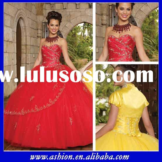 QD-078 Sweet red ball gown prom dresses quinceanera gowns