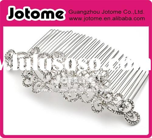 Rhinestone Crystals Bride Bridal Wedding Hair Comb Headpiece