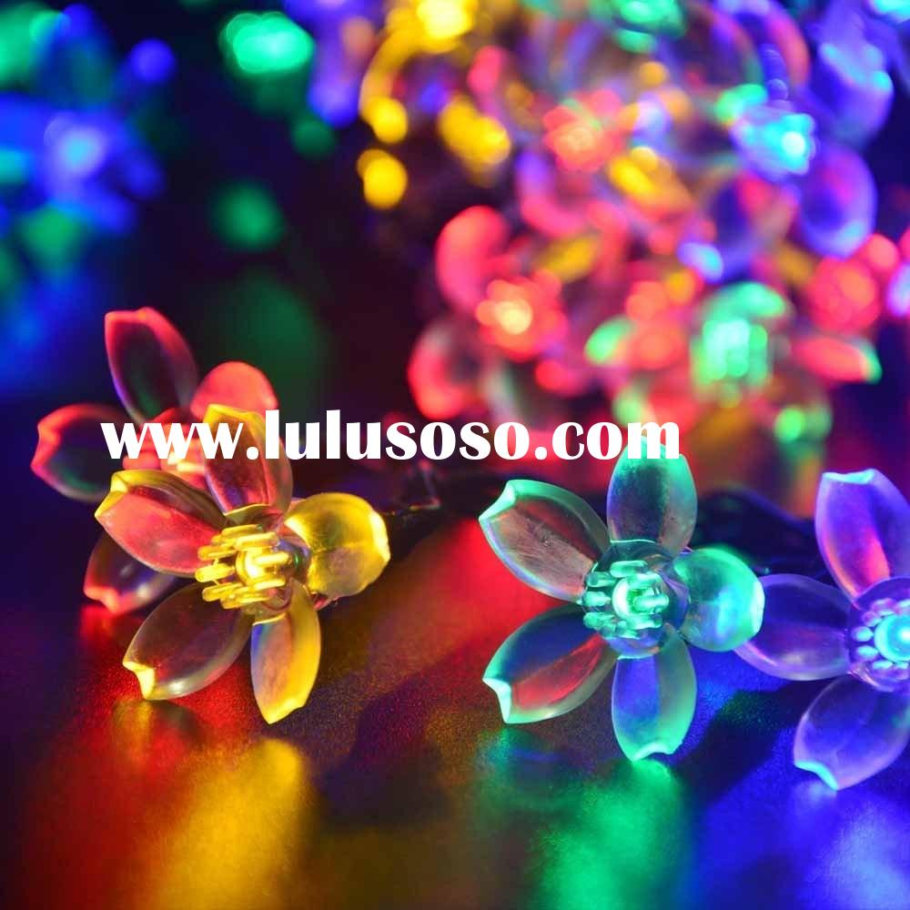 Solar Fairy String Lights 21ft 50 LED Multi-color Blossom Decorative Gardens, Lawn, Patio, Christmas