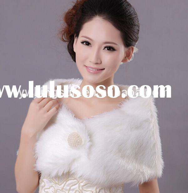 Top grade Bridal accessory faux fur wedding wrap bridal shawls for winter wedding dress party dresss