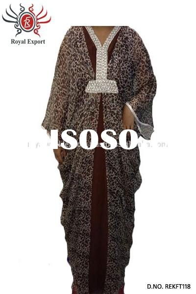 Traditional Wholesale Islamic Clothing For Women Formal Eveninig Gown with Beld Muslim Kaftan Abaya