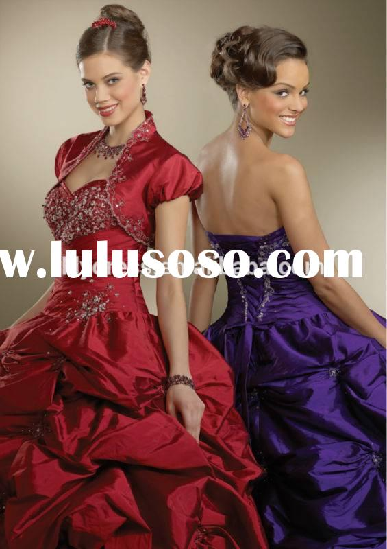 Wine Red Sweetheart Neckline Custom Made Floor Length Design Long Party Ball Gown QD020 wedding and