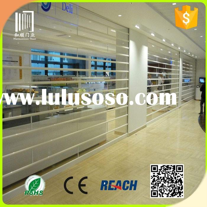 cheap interior folding doors transparent rolling shutter door fuyang