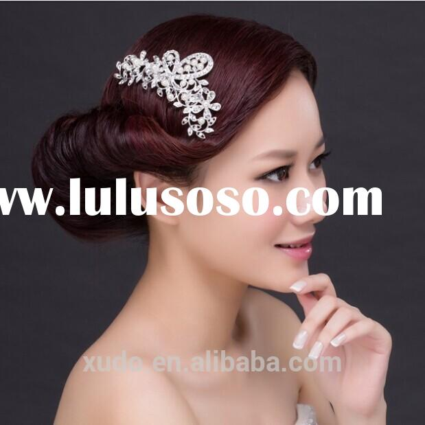new pearl crystal comb headpiece for wedding bride