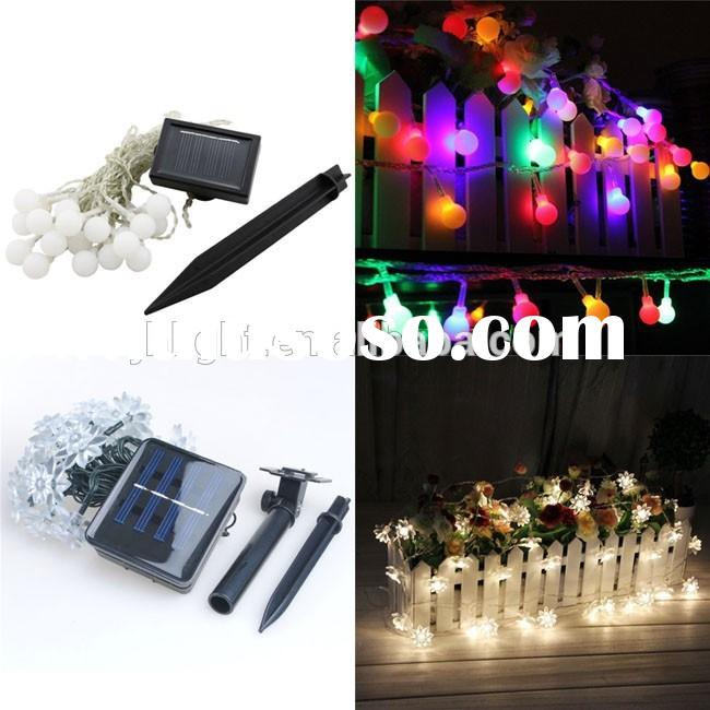solar garden decorative string lights / Christmas solar string light / holiday decor solar string li