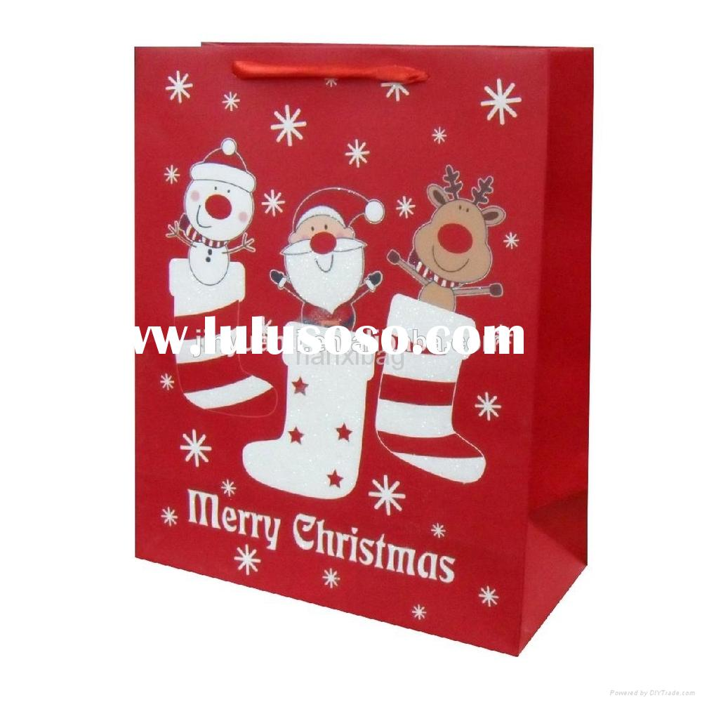 Christmas Paper Gift Bag/Paper Bags Wholesale/Paper Bags With Handles Wholesale