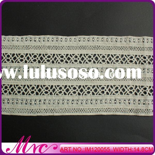 Hot Sale Fashionable 100% Polyester Lace Applique Embroidery Designs