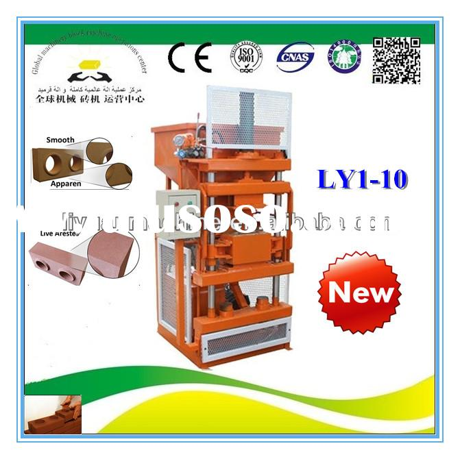 LY1-10 manual compressed earth block machine for sale