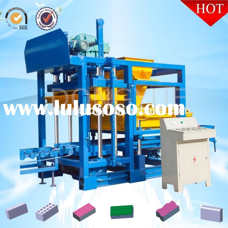 QT4-25 low cost compressed earth brick block machine for sale