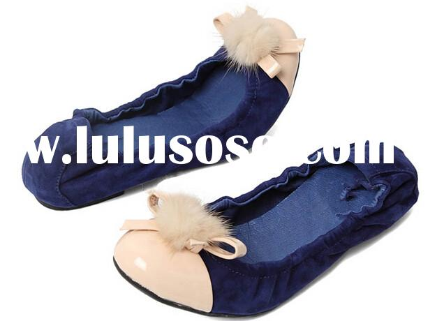 Royalblue womens good quality ballerina shoes in lowest price 2015 new designs women's folda
