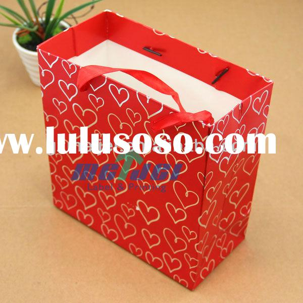 custom Christmas paper bag gift paper shopping bag wholesale