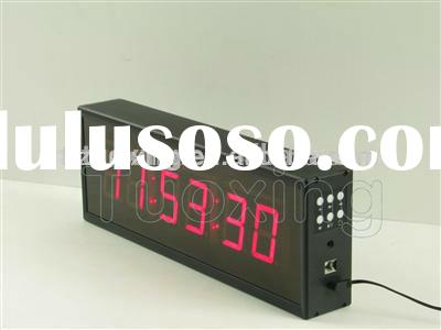 2.3 inch 6 digits digital wall clock led display
