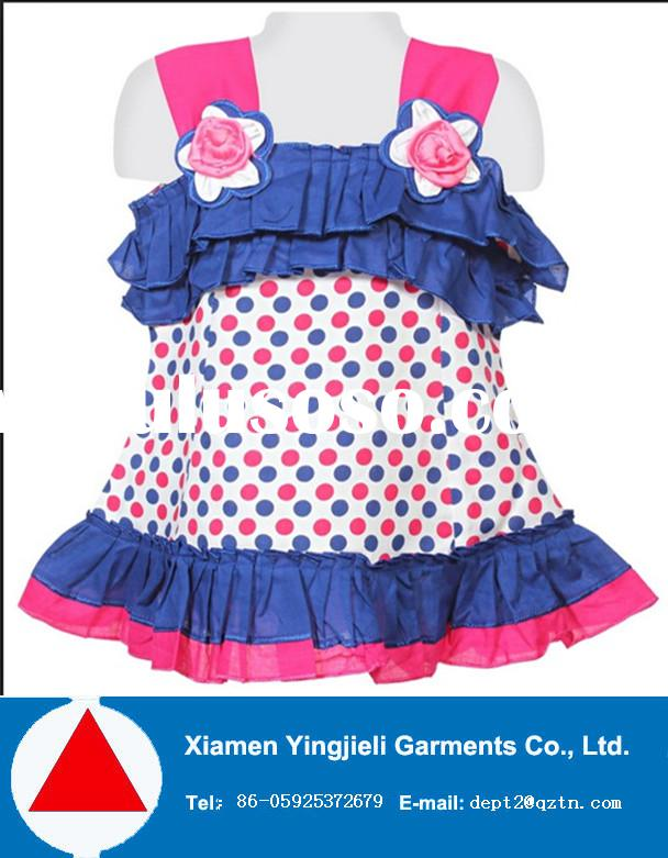 2015 latest kids frocks designs fancy baby children print cotton frocks for girls