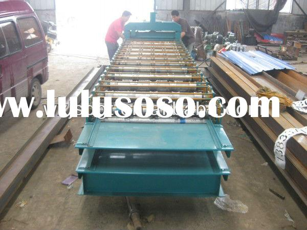 Aluminium Long Span Roofing Sheets And Step-tiles Manufacturing Machine /Tile-Corrugated Tin Rolling