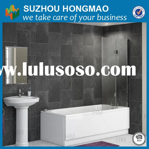 Bathtub shower door screen