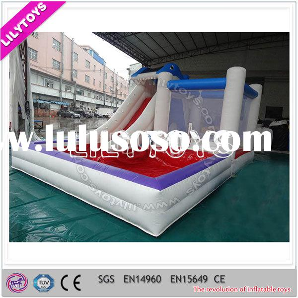 Commercial Kids Cheap Small PVC Inflatable Pool with Slide Bouncer Combo