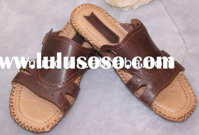 Cool Style Genuine Leather Custom Sandals For Men/Mens Leather Sandals
