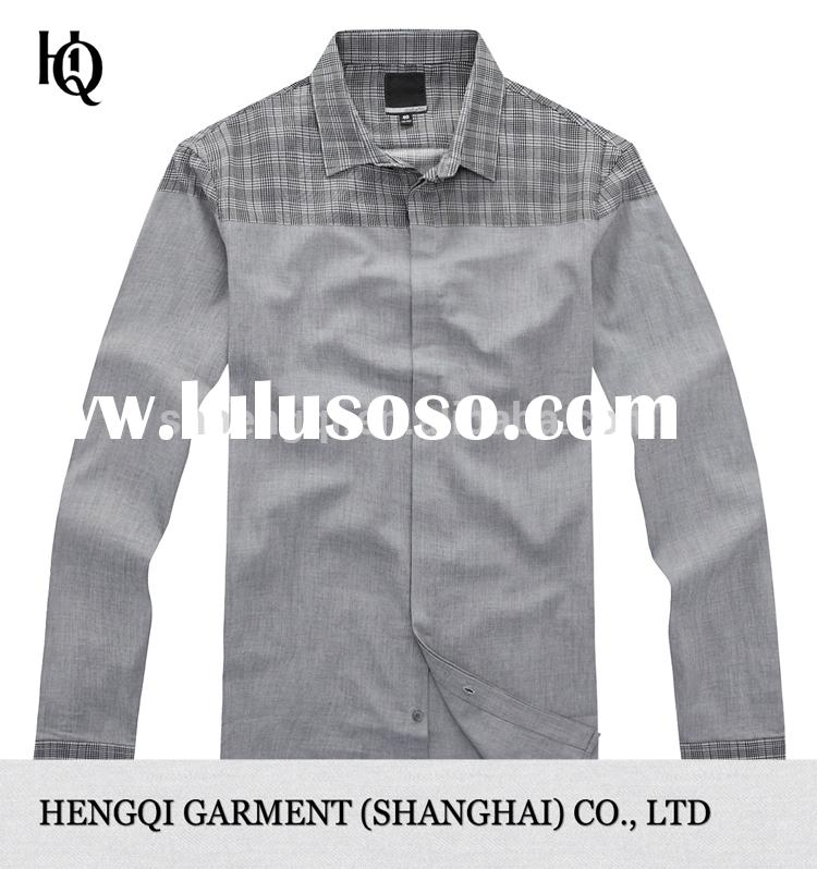 High-End latest mens long sleeve shirt men wholesale