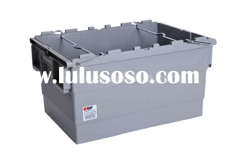 Industrial Plastic Containers with Bars for Material Handling