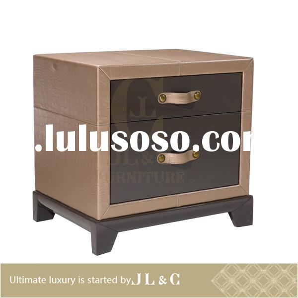 JB10-03 luxury modern glass nightstand in bedroom from JL&C furniture lastest designs 2014 (Chin