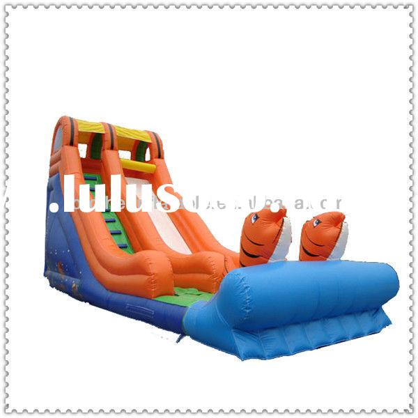 Kids Inflatable Pool Slide with Climbing Wall